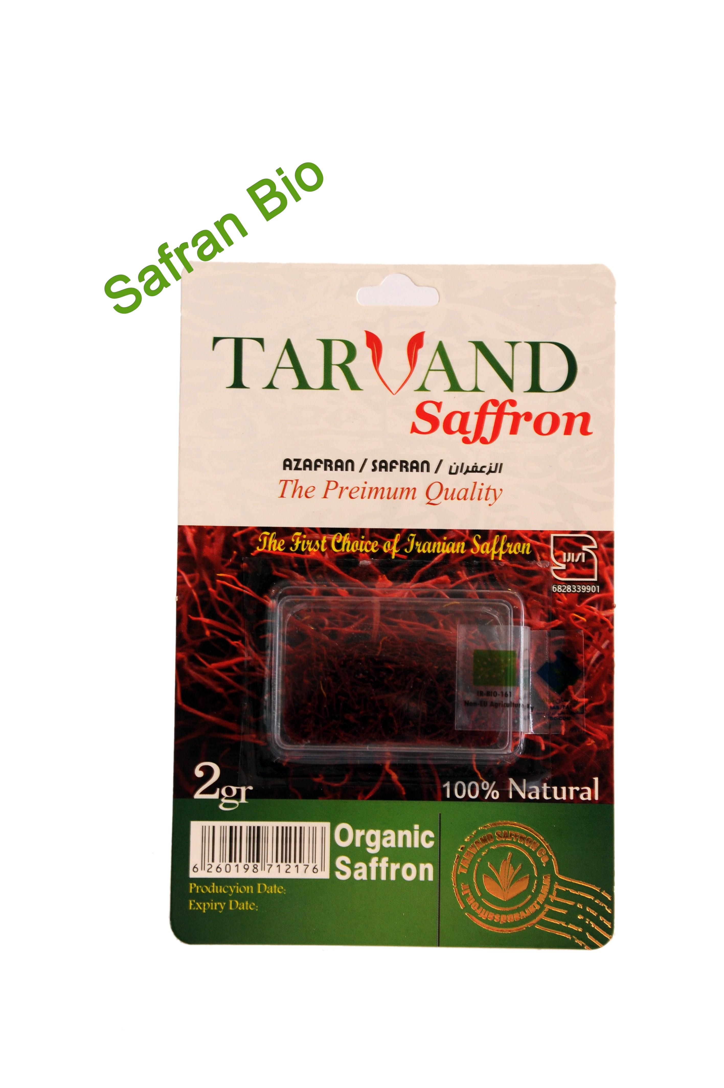 Safran pistil BIO 2 gr par lot de 5