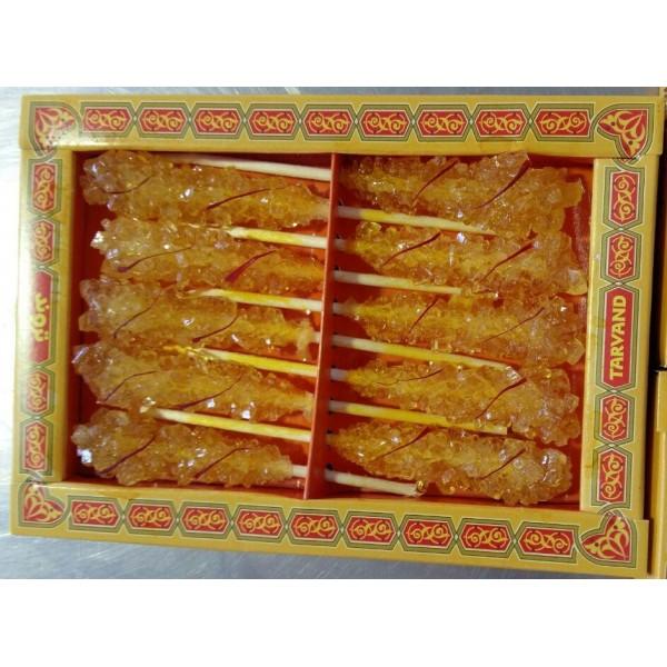 Lot de 10 boîtes de bâtonnet de sucre au safran